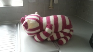 Bagpuss, home knitted