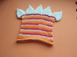 orange dinosaur hat